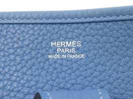HERMES Evelyne 3 PM Taurillon Clemence Bleu Paradis Shoulder Bag #R Authentic image 11