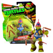 Year 2015 Mutant Ninja Turtles TMNT 5 Inch Tall Figure Dimension X SAVAG... - $29.99