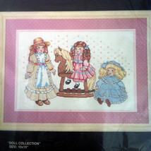 Doll Collection Bucilla Counted Cross Stitch Kit 10x15 Terrie Lee Steinmeyer - $19.79