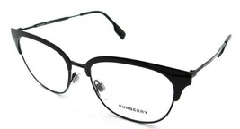 Burberry Rx Eyeglasses Frames BE 1334 1001 52-17-140 Black Made in Italy - $176.40