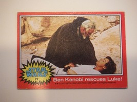 Star Wars Series 2 (Red) Topps 1977 Trading Card # 72 Ben Kenobi Rescues Luke - $1.49