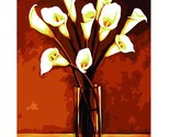 Lily Flowers Oil Painting By Numbers Kits For Kids Realist Painting Wall Art