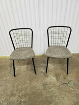 Pair Mid Century Modern Howell Metal Wire Back Chairs (k30) - $247.50