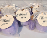 Party Favor Bath Bombs with Mini Glass jar filled with All natural Bath Salts Ta