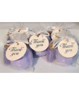 Party Favor Bath Bombs with Mini Glass jar filled with All natural Bath Salts Ta - $13.95