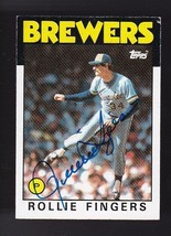 Rollie Fingers Autographed Card 1986 Topps Milwaukee Brewers - $5.88