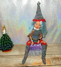 SANTA'S HELPER ELF ooak Monster High Doll Remake Custom Christmas Repaint - $46.53