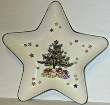 Nikko Japan Christmas Tree Dish Star Shaped Porcelain Trinket Candy Dish... - $11.88