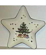 Nikko Japan Christmas Tree Dish Star Shaped Porcelain Trinket Candy Dish... - $11.88