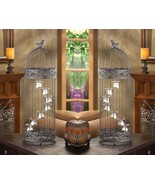 2 Birdcage 7 Cup Stair-Step Staircase Tealight Candle Holder Centerpiece... - $75.61