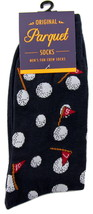 Golfing Mens Novelty Blue Crew Golf Socks Casual Cotton Blend Fun Golfer... - $12.95