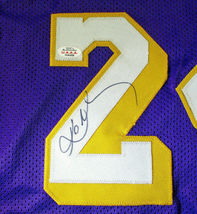 KOBE BRYANT / NBA HALL OF FAME / AUTOGRAPHED LAKERS PURPLE CUSTOM JERSEY / COA image 4