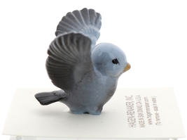 Hagen-Renaker Miniature Ceramic Bird Figurine Blue Tweetie Pa, Ma & Baby Set image 14