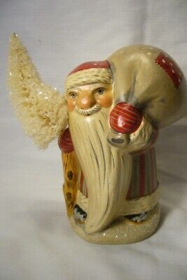 Vaillancourt Folk Art, Gnome Like Santa FC with  Bag signed by Judi!