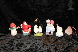 Hallmark Christmas Tree Ornament Santa snowman Raggedy Ann Andy lot of 6 image 8