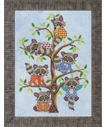 Rambunctious Raccoons cross stitch chart Glendon Place   - $12.60