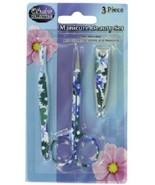 Manicure Beauty Set, 3 piece floral pattern - $5.36