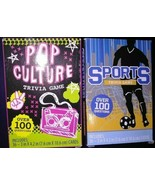 Lot of 2 Trivia Game Card sets Pop Culture Sports Over 100 Questions eac... - $19.64
