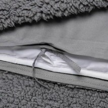 Room Essentials Sherpa Weighted Blanket with Removable Cover | 50 x 70 |Gray NEW image 2