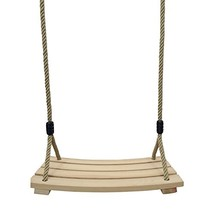 JOXJOZ Outdoor Indoor Curved Wooden Swing Chair for Children Adults - $52.10