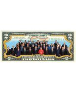 World Leaders - $2 Dollar Bill Colorized Legal Tender w/ Vinyl Display F... - $265,39 MXN