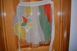 Vintage half waist apron sheer 1Star pocket whi... - $10.66