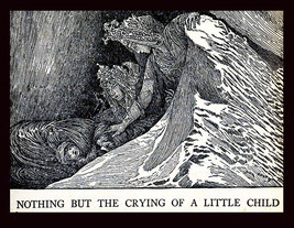 The Ice-Maiden Saves Little Rudy 1914 Book Art Plate Illustrated by Loui... - $11.90