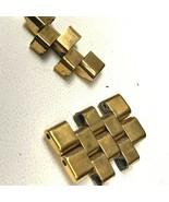 MOVADO 87 G2 1891 GOLD TONE THREE 3 WATCH BRACELET BAND ORIGINAL LINKS - $62.40