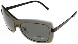Givenchy Sunglasses Women Clear Olive Grey Black Rectangular SGV360 0531  - $177.21