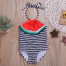 Kids Baby Girls Fruit Print Striped Bikini Beach Swimsuits Bathing Swimw... - $9.69