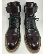 Louis Vuitton -  Man Sword Ankle Boots - Size US 8 1/2 - Burgundy - $989.95