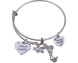 Cheer Coach Bracelet - Cheerleading Coach Bracelet - Silver - $15.00