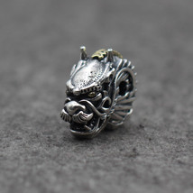 Sterling Silver 925  Dragon Head Bracelet Necklace Connector Charm Beads... - $42.39