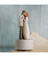 Hand-Painted Cake Topper -  Sculpted -  Wedding Cake - Willow Tree Promise Music - £69.97 GBP