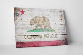 Vintage California State Flag Gallery Wrapped Canvas Wall Art - $44.50+