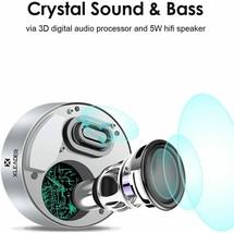 SoundAngel (2 Gen) 5W Touch Wireless Speaker, Silver image 2