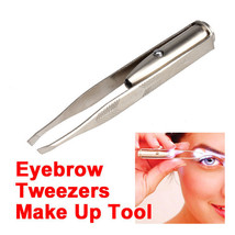 New Eyelash Eyebrow Hair Removal Tweezers Remover Unique Cosmetic LED Tool - $1.97