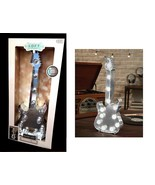LED Lighted Electric Guitar Marquee Primitive Metal Wall Art Decor Loft ... - $31.65