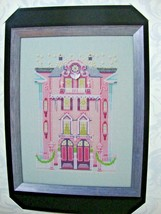 "NC283 ""THE PINK EDWARDIAN HOUSE""  CHART, EMBELLISHMENT, Caron & Kreinik - $39.59"