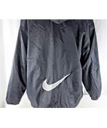 Vintage 90s Nike L USA Cascade Jacket Black Gray Big Swoosh Nylon Fleece... - $111.34