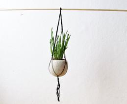 Hanging planter / Felt planter / Macrame hanging pod / minimalist home d... - $24.00