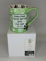 "Dog Theme Coffee Tea Mug Cup ""Everything Tastes Better with Dog Hair"" - ... - $8.90"