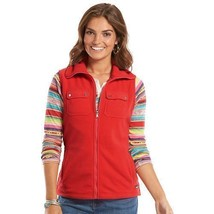 CHAPS Women's Fleece Sleeveless Vest Red Size M or L NWT - $24.95