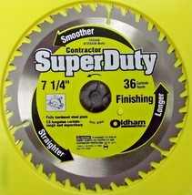 """Oldham 725C436 7-1/4"""" x 36 Tooth Carbide Saw Blade - $5.45"""