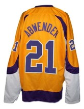 Custom Name # New York Golden Blades Retro Hockey Jersey Yellow Any Size image 2