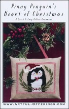 Pinny Penguins Heart of Christmas cross stitch chart Artful Offerings  - $9.00