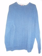 Blue Size L Chaps by Ralph Lauren 100% cotton Sweater - $23.75