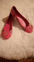 Coach Remmi Poppy Pink Patent Leather Multicolor Flats Ballet Womens 8.5... - $39.55