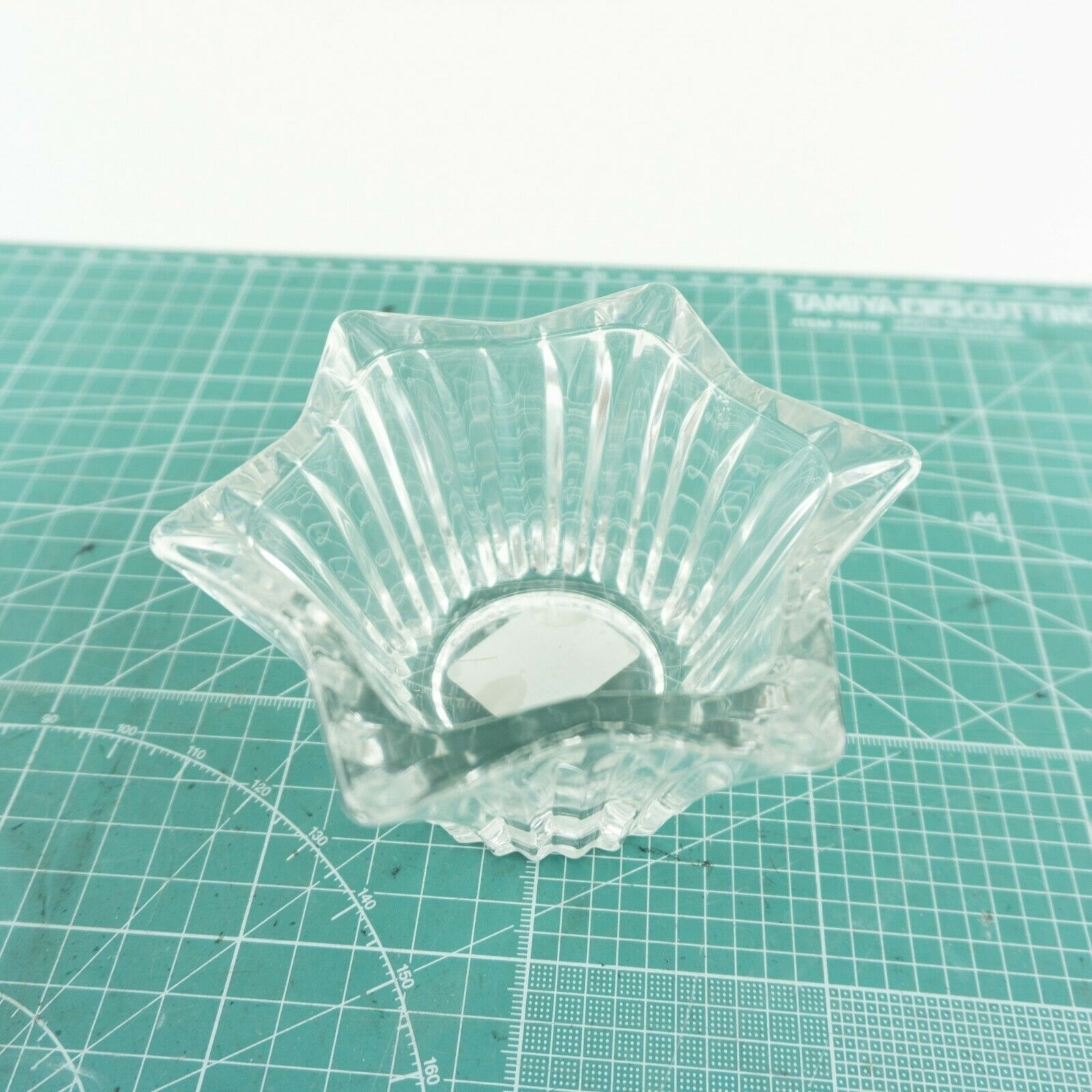 "VTG Mikasa Japan Votive 5"" Six Sided Tealight Candle Holder Key Glass Decorative"