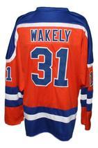 Custom Name # San Diego Mariners Retro Hockey Jersey New Orange Wakely Any Size image 2